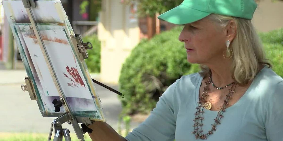 Local artists painting for a cause
