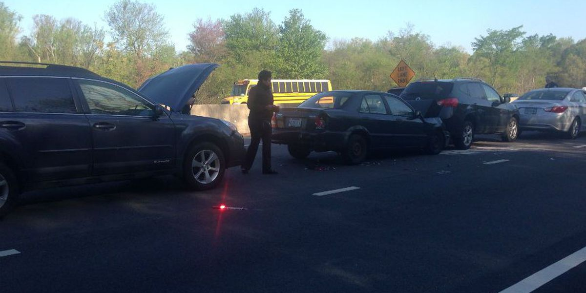 Traffic moving again after Chippenham and Powhite crash