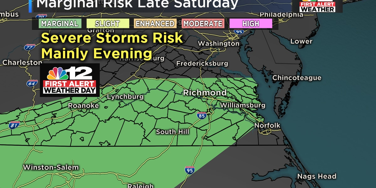 First Alert: Few strong storms likely Sunday