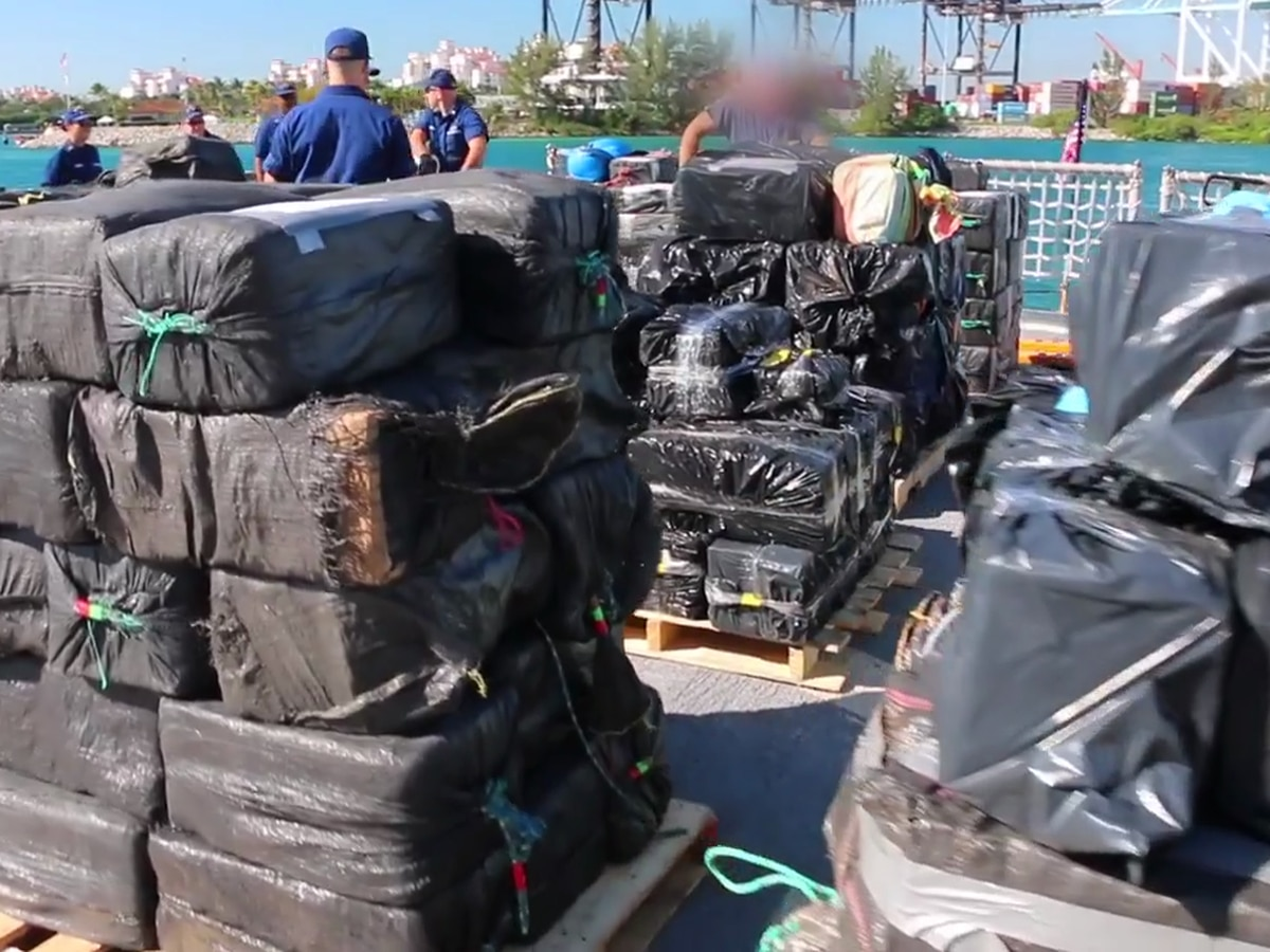 Coast Guard offloads 27,000 pounds of seized cocaine