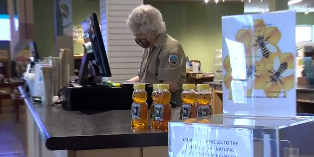 Natural Bridge State Park sells honey produced by bees from their hives