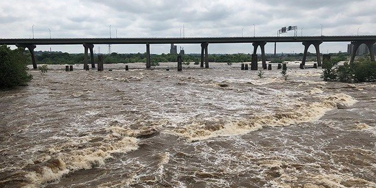 Woman stuck on rock in James River rescued