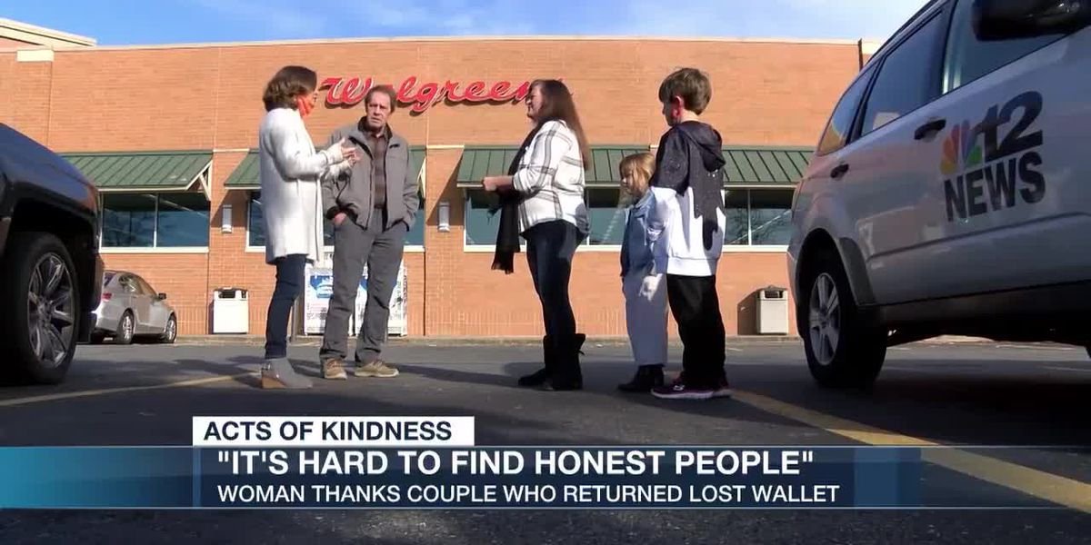Woman thanks couple who returned lost wallet
