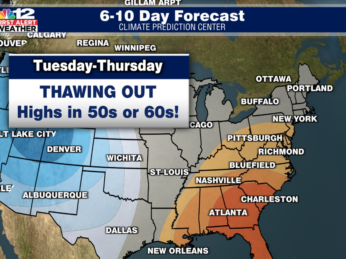 Signs of spring ahead in Virginia: mid-week warmup expected!
