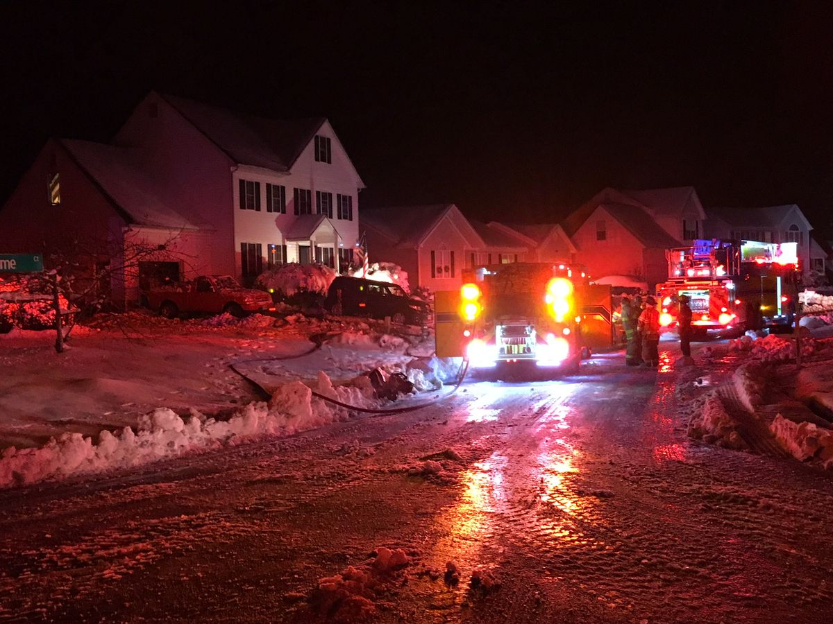 3 displaced in overnight house fire