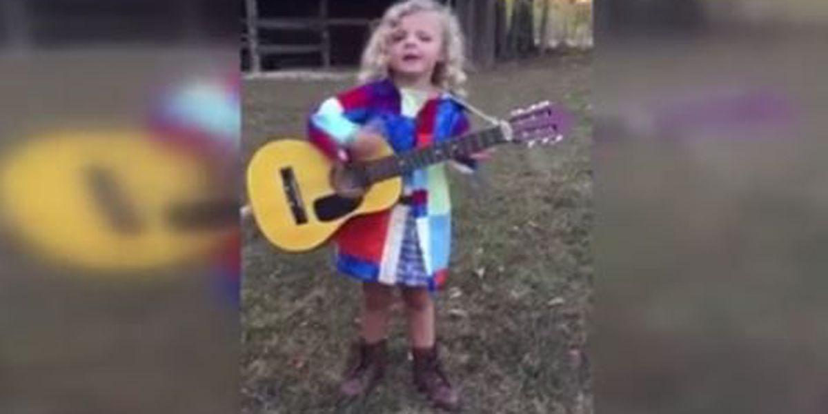 Little girl hopes to meet Dolly Parton