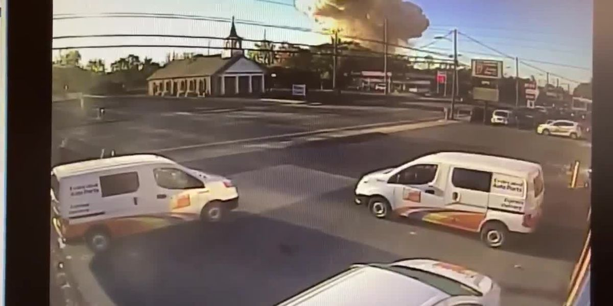 Security camera footage of Harrisonburg explosion | Source: City of Harrisonburg Twitter