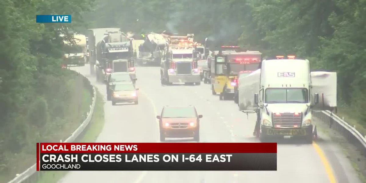Crash shuts down I-64E lanes