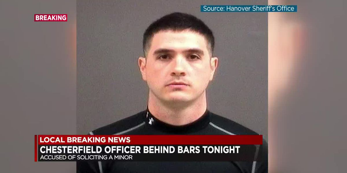 Chesterfield officer arrested, accused of soliciting minor for sex