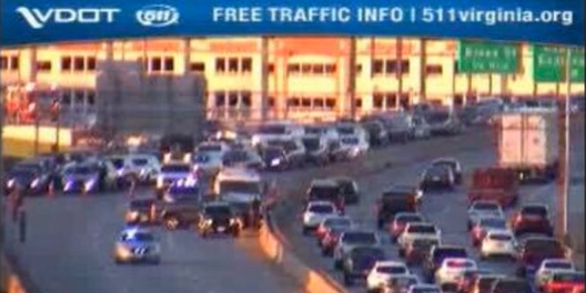 I-95 Southbound shut down at the 74-mile marker
