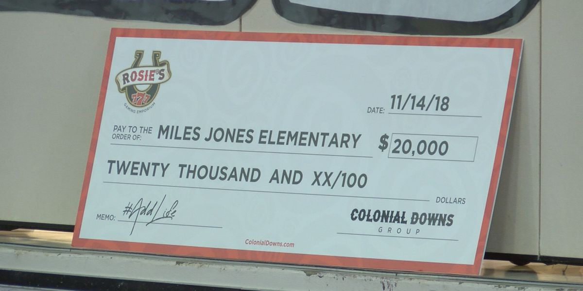 Colonial Downs Group to donate $500,000 to Miles Jones Elementary