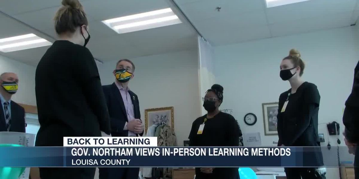 Governor Northam views in-person learning methods in Louisa