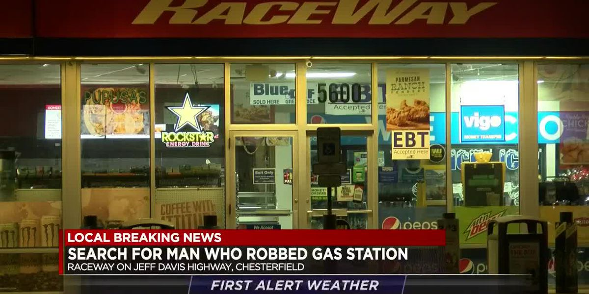 Chesterfield police searching for gas station robbery suspect