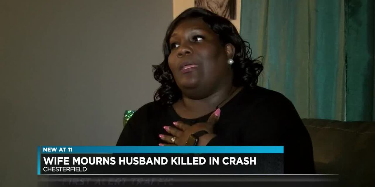 Wife mourns husband killed in crash