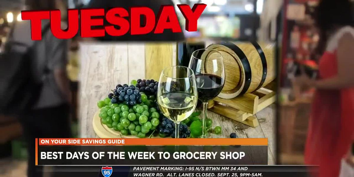 Best days of the week to grocery shop