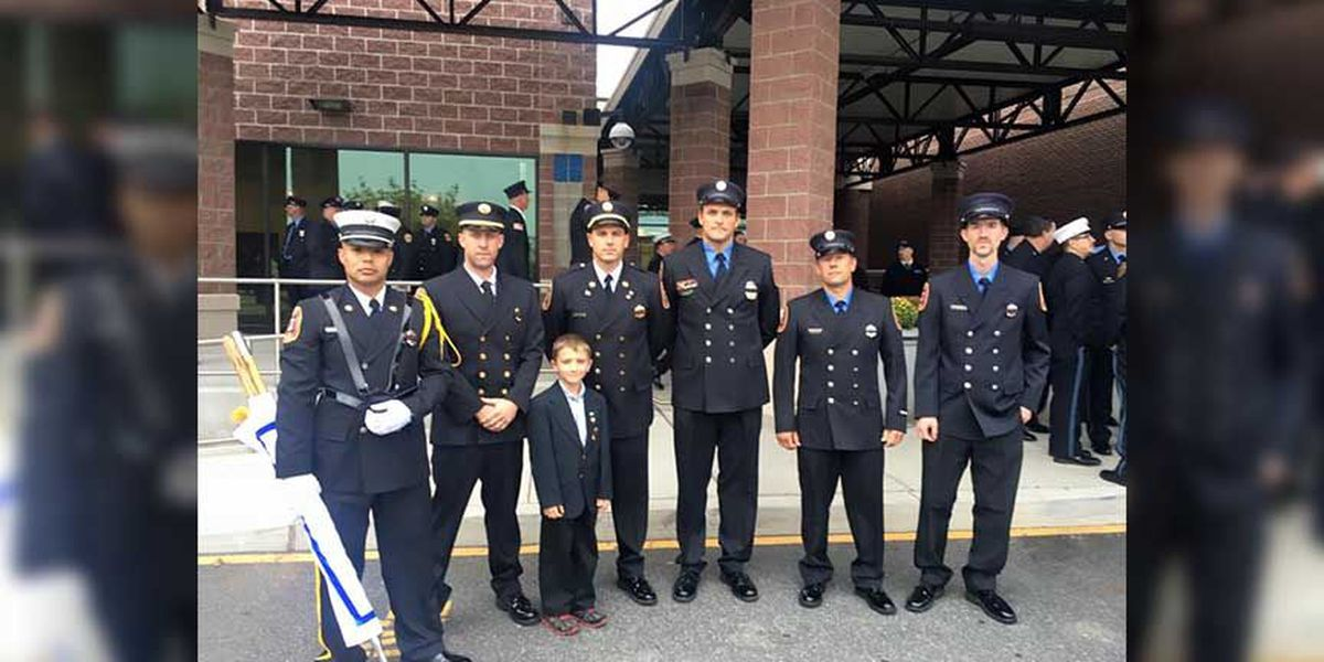 Richmond FD among contingent paying respects to fallen Delaware firefighters