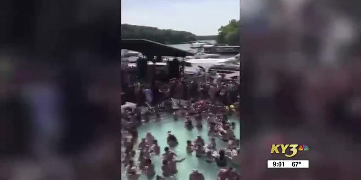 Crowd packs pool bar at Lake of the Ozarks in Mo. over Memorial Day weekend