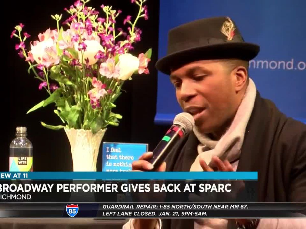 Broadway star speaks at performing arts school for 'MLK Day of Service'