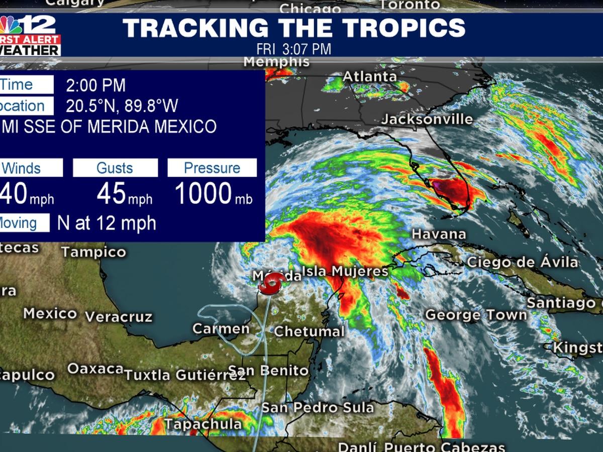 Tropical Storm Cristobal headed toward the Gulf Coast